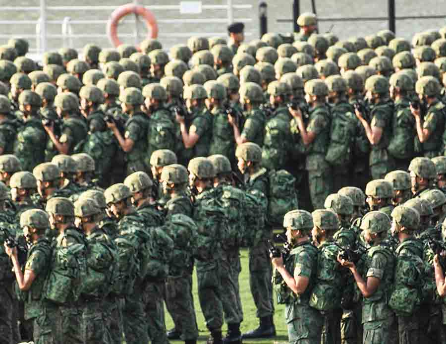 singapore NS army contingent